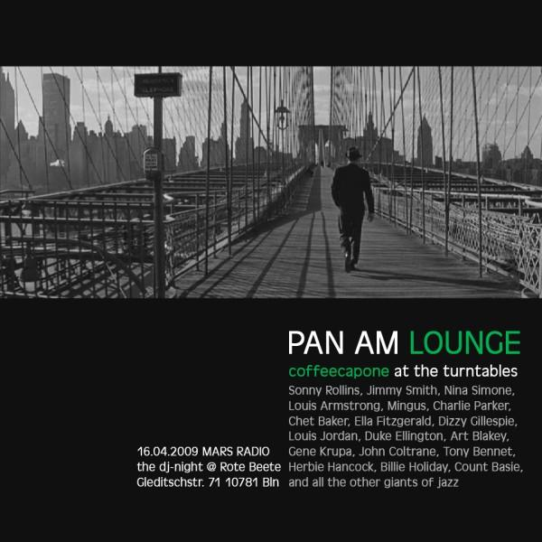 coffeecapones Pan Am Lounge am 16.04.2009 designed by Designjockey