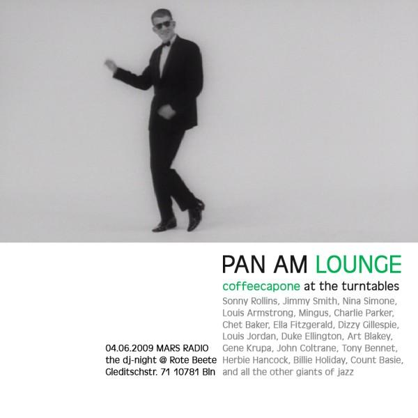 coffeecapones Pan Am Lounge am 04.06.2009 designed by Designjockey