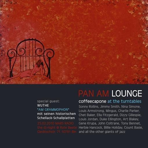 coffeecapones Pan Am Lounge am 25.02.2010 designed by Designjockey