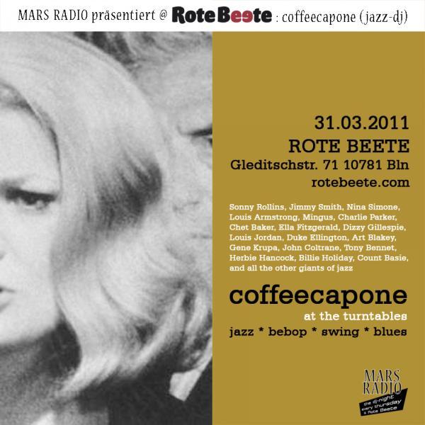 flyer von coffeecapone @ Rote Beete am 31.03.11