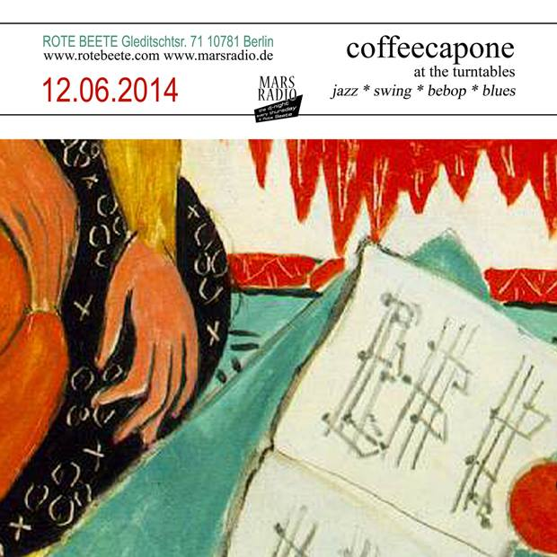 12.06.2014 | coffeecapone @ Rote Beete |Jazz| Flyer design by designjockey