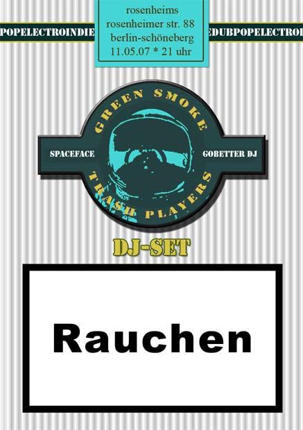 flyer von green smoke trash players im rosenheims am 11.05.07