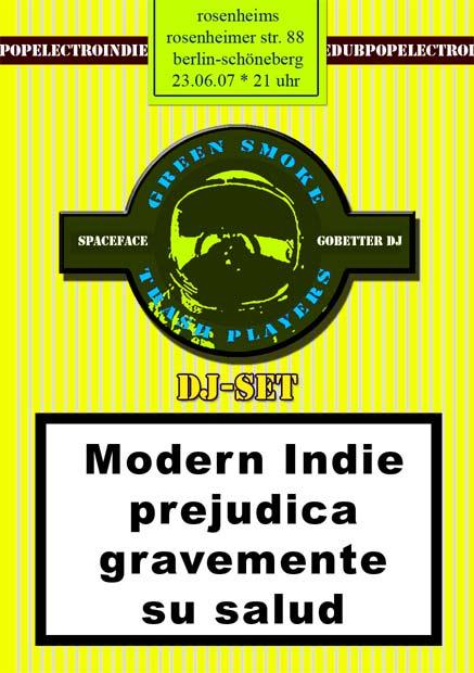 flyer von green smoke trash players im rosenheims am 23.06.07