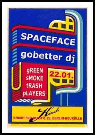 flyer von green smoke trash players im kinski am 22.01.09