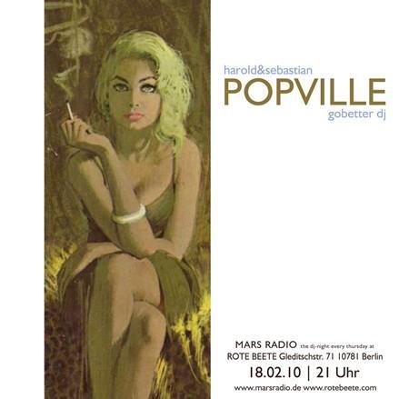 POPVILLE harold&sebastian + gobetter dj @ Rote Beete am 18.02.2010 designed by Designjockey