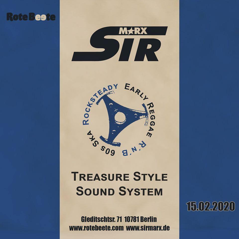 Sir Marx   60s Ska, Rocksteady, Northern Soul, Calypso, R´n´B, Early Reggae @ Rote Beete, Gleditschstr. 71, Berlin-Schöneberg designed by Designjockey