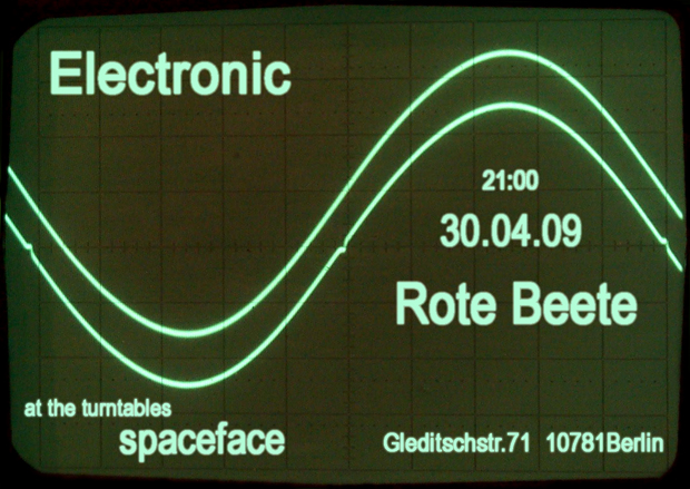 30.04.2009 Electronic-Abend with SPACEFACE designed by spaceface