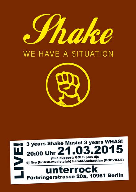 21.03.2015 | We Have A situation @ unterrock |live| Flyer design by designjockey